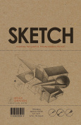 Premium Paper Sketch Book for Pencil, Ink, Marker, Charcoal and Watercolour Paints. Great for Art, Design and Education.