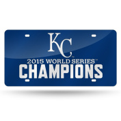 Kansas City Royals Official MLB 30cm x 15cm 2015 World Series Champions Laser Cut Licence Plate by Rico Industries 890551
