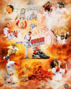 2004 Boston Red Sox Signed 16x20 Photo - 10 Signatures! - Trot Nixon, Doug Mientkiewicz, Dave Roberts, etc.