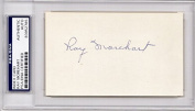 Ray Morehart Signed - Autographed New York Yankees 7.6cm x 13cm index card with Slabbed PSA/DNA Authenticity - Deceased 1989