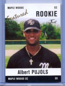 ALBERT PUJOLS JUST MINORS MAPLE WOODS FEATURED ROOKIE CARD #AP2! W/H TOP LOADER!