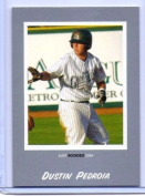 DUSTIN PEDROIA 2004 JUST MINORS SILVER EDITION ROOKIE CARD #60! BOSTON RED SOX!