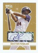 """DEXTER FOWLER 2008 JUST STARS GOLD EDITION """"CERTIFIED AUTOGRAPH"""" ROOKIE CARD! 1 OF 50!"""