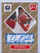 """DEXTER FOWLER 2004 JUST MINORS """"1ST EVER PRINTED"""" GOLD EDITION """"CERTIFIED AUTOGRAPHED"""" ROOKIE CARD! 1 OF 50!"""