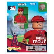 MLB Los Angeles Angels Anaheim Mike Trout Generation 4 Mini Figure, Small, Black