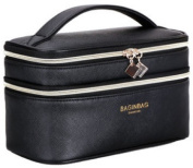 FERMOSO Cosmetic Bag Double Layer Makeup Bags Travel