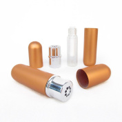 Orange Aluminium and Glass Empty Essential Oil Personal Nasal Inhaler Refillable With Removable Bottle by Rivertree Life