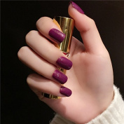 Fake Nails Fales Nail Tips Squoval Short Size Nails With a Slight Flicker Effect 24PCS Tips Purple