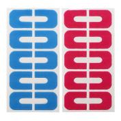 BMC 2 Sheets (20) Latex-Free U-Shaped Cuticle Protecting Adhesive Nail Art Tapes
