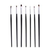 Jocestyle 7pcs Professional Nail Art Painting Drawing Pen Brush Set Nail Beauty Tool Kit