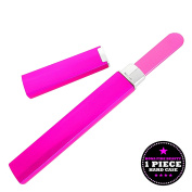 Bona Fide Beauty Czech Glass Nail File - 1-Piece Magenta Medium Manicure File in Magenta Hard Case - Gentle Nail Care - File in Any Direction