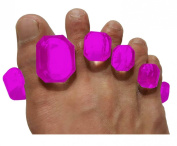 Toesport New Toes Separators Yoga and Personal Care Clear Pilates Foot Relaxing Gemstone Pro Edition Medical Grade Gel Instant Therapeutic Relief Toes Separator Hammer Teos Stretches for Healthy Feet