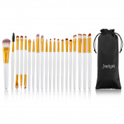 JewelryWe 20 PCS Professional Makeup Brushes Set for Eye Eyeshadow Eyeliner Face Foundation Blush Lip, Liquid Cream Powder Cosmetics Blending Makeup Brush Tool