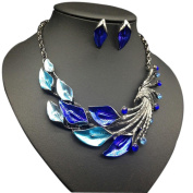 Necklace, Hatop Women's Elegant Vintage Peacock Necklace Statement Earrings Jewellery Set