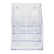Multi Compartment DocuHolder, Four Compartments, 9-1/4w x 7d x 13-1/2h, Clear - DEF77441