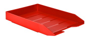 Acrimet Stackable Letter Tray (Solid Red Colour)