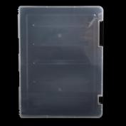 Ladaidra A4 Transparent Storage Box Clear Document Paper Filling Case File Plastic
