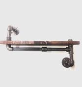 60cm Industrial Urban Rustic Shelf design 2.5cm x 15cm WOOD (Pick your own stain)
