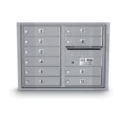 postalproducts N1034006 10 Door Standard 4C Mailbox, 60cm Height, 80cm Width, Silver
