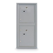 postalproducts N1029444SLVR Standard 4C Mailbox with 2 Parcel Lockers, 100cm Height, 44cm Width, Silver