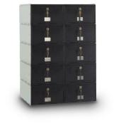 postalproducts N1023580 10-Door Standard Rear Loading Guardian System, 80cm Height, 60cm Width, Black