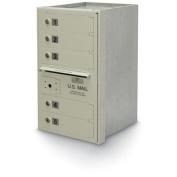 postalproducts N1027862 5-Door 4C High Security Horizontal Mailbox, 70cm Height, 41cm Width, Grey