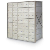 postalproducts N1029434 34 Door Front Load 4B+ Horizontal Mailbox, 100cm Height, 90cm Width, Anodized Aluminium