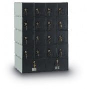 postalproducts N1023636 18-Door Standard Rear Loading Guardian System, 80cm Height, 60cm Width, Black