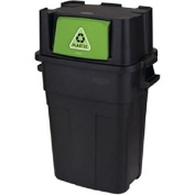 Rubbermaid Stackable Recycling Bin, 113.6l, Black by Rubbermaid