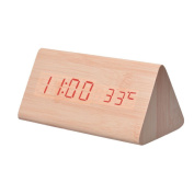 Alarm Clock, Hevoiok LED Sounds Control Electronic Temperature Display Home Kitchen Office Bedroom Nice Quiet Clock