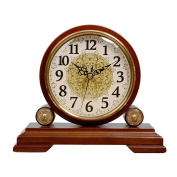 Classical Wooden Desk Clock 13cm Decorative Gifts