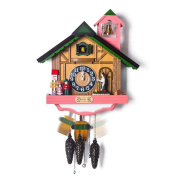 GBDSD Creative Cuckoo Wall Clock Solid Wood Living Room Music Clock Hand-Made / Carved