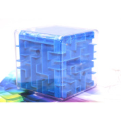 IDS Magic Cube Puzzle 3D Mini Speed Cube Labyrinth Rolling Ball Toys Puzzle Game Cubos Magicos Learning Toys For Chilren, Blue
