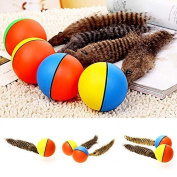 Funny Pet Dog Puppy Cat Motorised Weasel Appears Jumping Moving Rolling Ball Toy