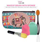 Instant Glam 5pcs Gift Set - Makeup Brush with Makeup Sponge