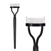 New Makeup Mascara Guide Applicators Steel Needle Eyelash Comb Eyebrow Brush US