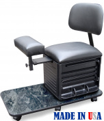 2318-BMFF Salon Spa Pedicure Station Stool with Footrest & Back Support by Dina Meri