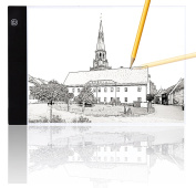 A4 Ultra Slim Led Light Box Tracer Led Light Artcraft Tracing Pad USB Cable Power for Artists,Drawing, Sketching, Animation