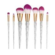 Makeup Brushes,ABCsell 7Pcs Pro Cosmetic Brushes Powder Foundation Eyeshadow Lip Brushes