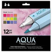 New 12 Pen Set - Floral Aqua Markers