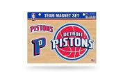 NBA Detroit Pistons Team Magnet Sheet, 28cm x 22cm x 60cm , Blue/Red