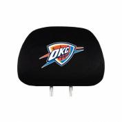 Oklahoma Thunder Auto Headrest Covers Set of Two NBA