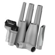 Jili Online 9pcs Universal Vacuum Cleaner Tools Kits Set, 2x Nozzle 2x Dust Brush 3x Connector 2x Extension Tube