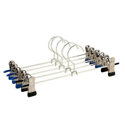 Starworld 6 Pieces Skirt Hangers, Slack Clothes Hanger with 2 Adjustable Clips / Random Colour