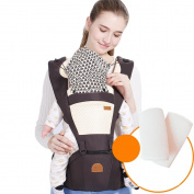 Baby Carrier Breathable Hip Seat Carrier Non-Slip Ergonomic Design 6 Carry Ways With Detachable Seat Portable Multifunction Backpack Carrier.Send Windproof Sun Hat.