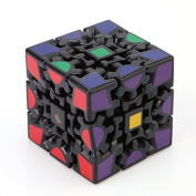Magic_Life@3D Cube Puzzle Magic Cube Gears Adults Child Educationa Toy 3x3x3_Black