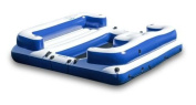 5 seated Inflatable Lake & River Floating Water Lounge Drink Holders Comfort on Every Seats