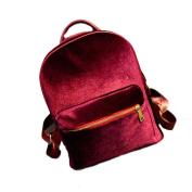 Oksale® Women Gold Velvet Small Shoulder Bag School Backpack Rucksack