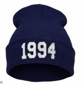 Qingsun Unisex Winter Warm 1994 Knitted Beanie Hat Letter Number Printed Beanie cap