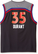 NBA Kevin Durant Golden State Warriors All Star West Replica Jersey, X-Large (18), Black